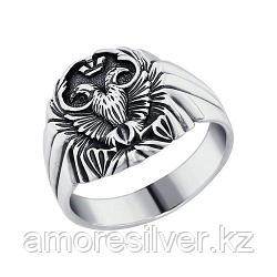 Печатка SOKOLOV из черненного серебра, без вставок 95010038