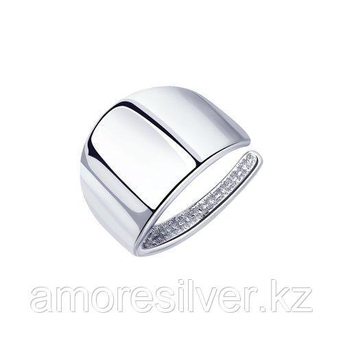 Серьги SOKOLOV серебро с родием, без вставок, геометрия 94170122