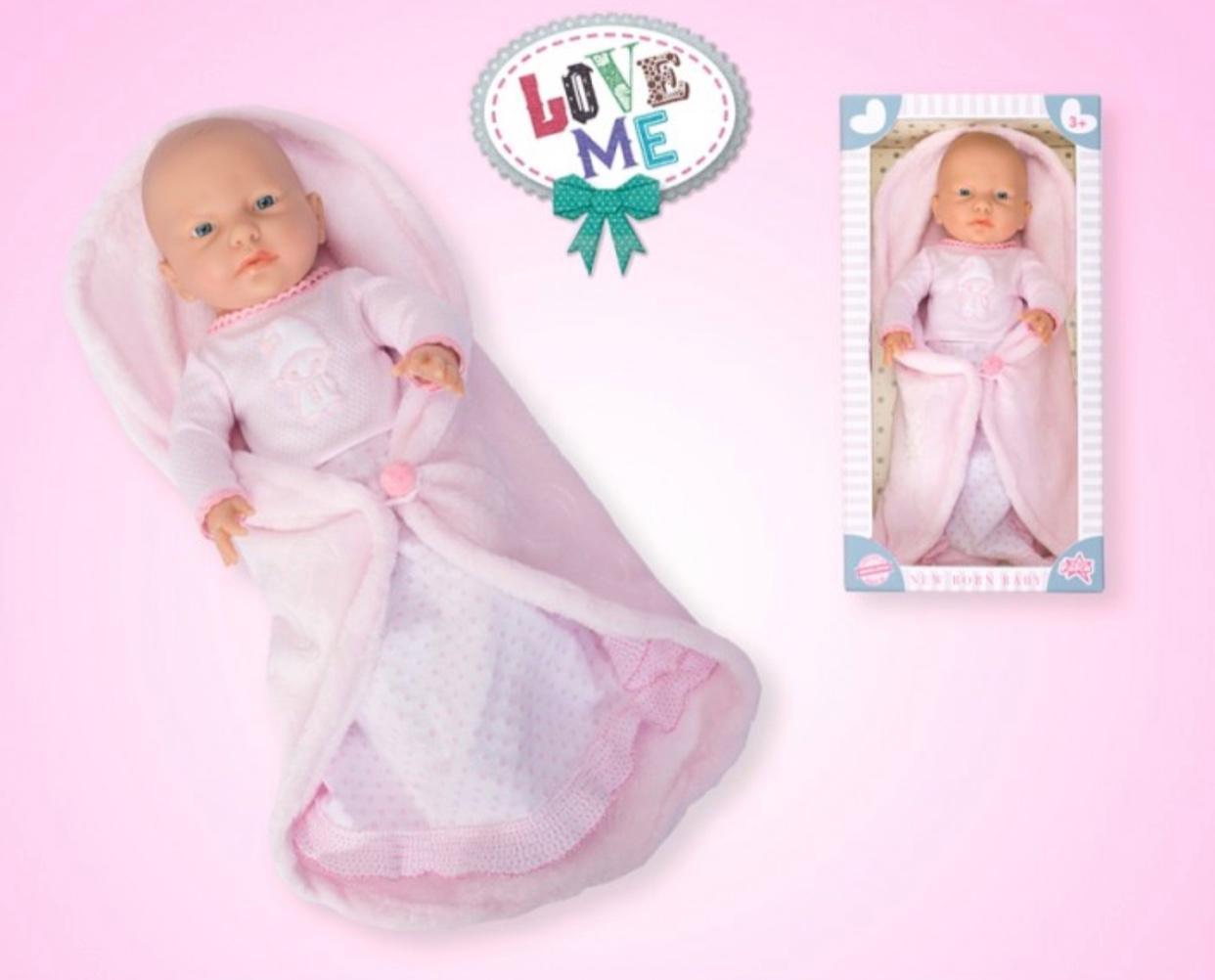 Кукла - девочка новорожденная 42 см (Falca, Испания) / с пледом