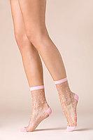 Прозрачные женские носки с принтом, Flamingo
