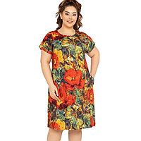 Платье домашнее женское 3XL / 54-56, Красный
