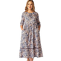 Платье домашнее женское L / 46-48, Синий