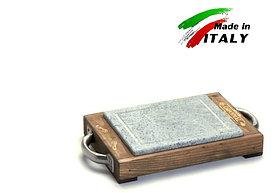 Каменная сковорода - гриль Bisetti Linea vintage 99273T камень для жарки мяса стейков овощей креветки шашлыка