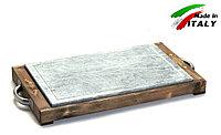 Каменная сковорода - гриль Bisetti Linea Vintage 99274T для жарки мяса стейков овощей рыбы креветки шашлыка, фото 1