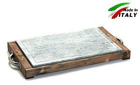 Каменная сковорода гриль Bisetti Linea Vintage 99274T камень для жарки мяса стейков овощей креветки шашлыка
