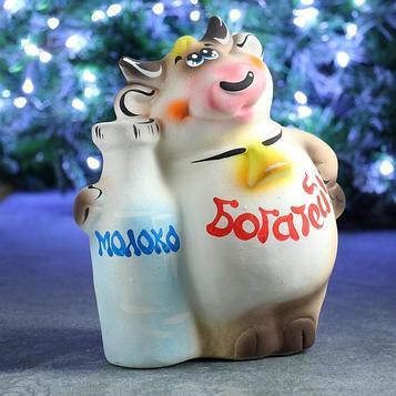 "Копилка ""Бык с молоком"" 25см"