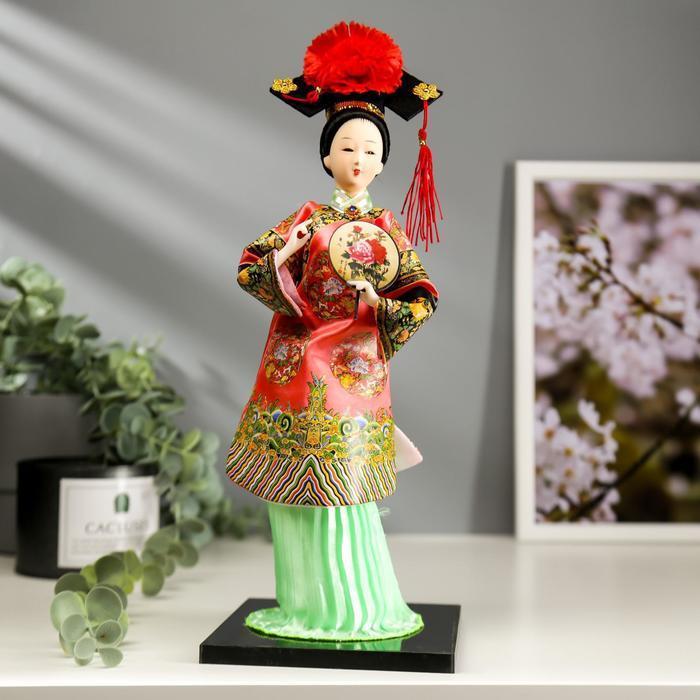 """Кукла коллекционная """"Китаянка в традиционном наряде с опахалом"""" 33,5х12,5х12,5 см - фото 1"""