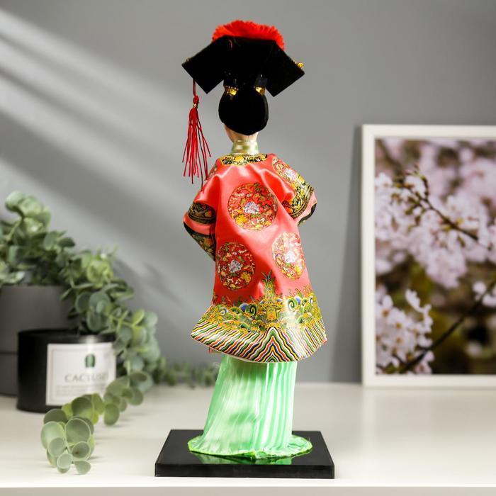 """Кукла коллекционная """"Китаянка в традиционном наряде с опахалом"""" 33,5х12,5х12,5 см - фото 4"""