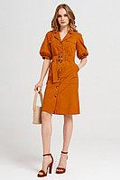 Женское летнее хлопковое оранжевое платье Панда 42380z терракотовый 42р.