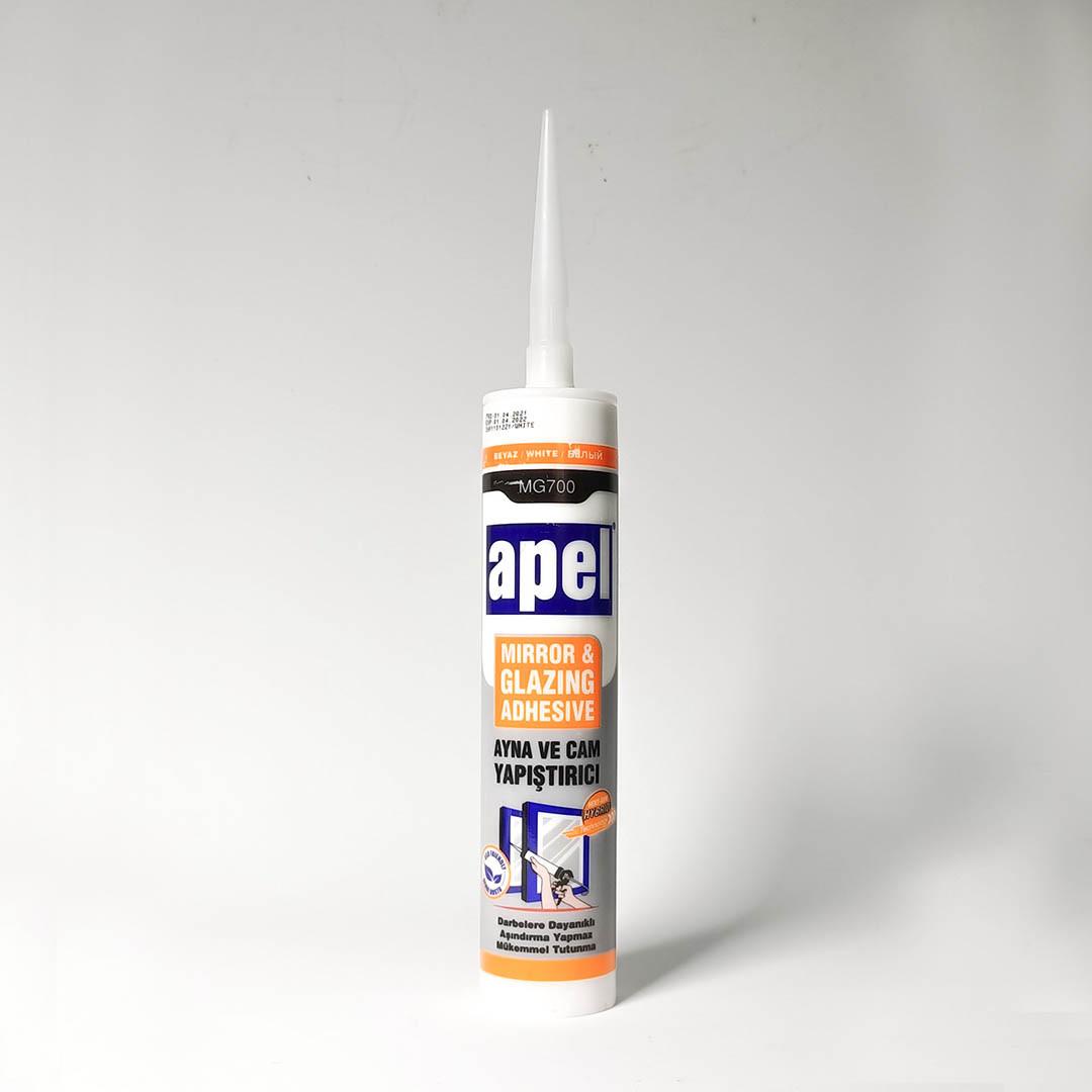 Силикон клеящий  APEL Белый для зеркал 700 мг