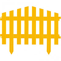 """Забор декоративный серия """"Барокко"""", 28 х 300 см, желтый"""