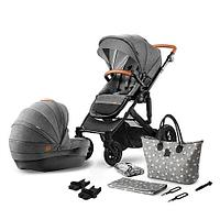 Коляска 2в1 Kinderkraft PRIME Grey + сумка для мамы