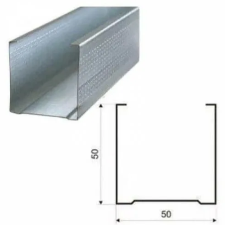 Профиль перегородочный ПС 50х50х3000 толщина 0,45 мм