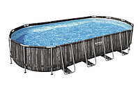 Каркасный бассейн Bestwey 5611T Power Steel Oval (габариты: 732*366*122 см)
