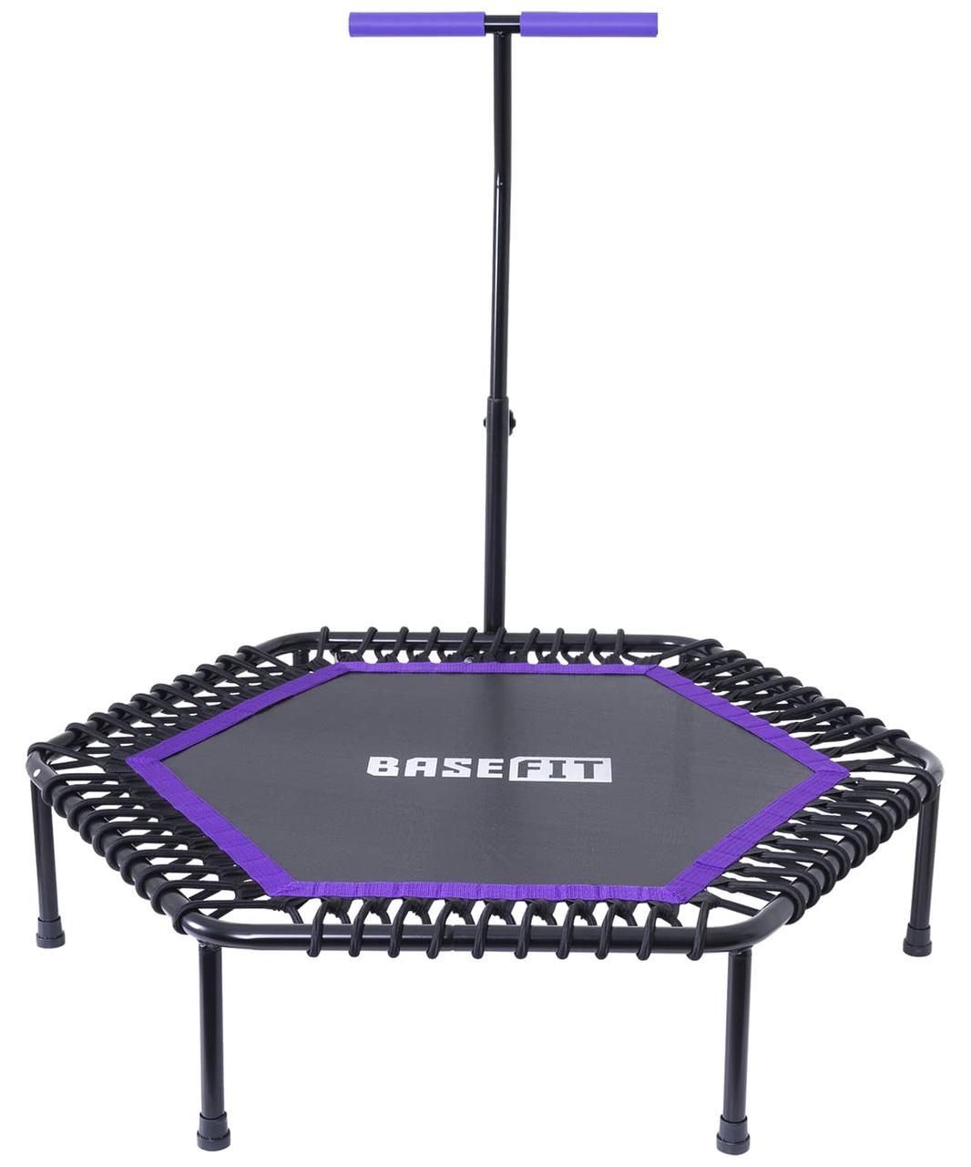 Батут TR-401 112 см с держателем, фиолетовый BASEFIT