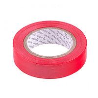 Изолента ПВХ, 15 мм х 10 м, красная, 150мкм// Matrix