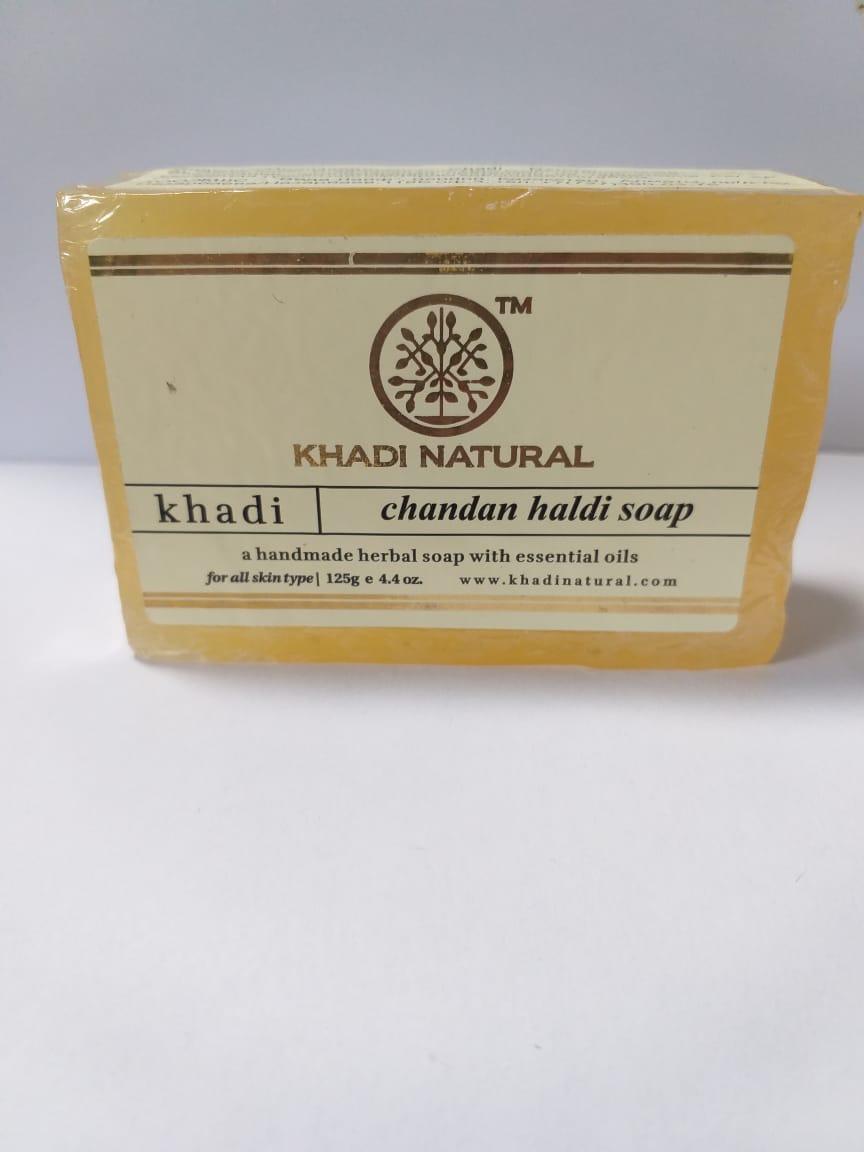 Мыло с Сандалом и Куркумой,125 гр, Haldi Chandan Soap KHADI