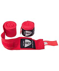 Бинт боксерский BP-6232c, 3,5м, эластик, красный Green Hill