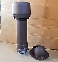 Вентиляционный выход утепленный ТР-86 110/160/700 для профиля СуперМонтерей Коричневый