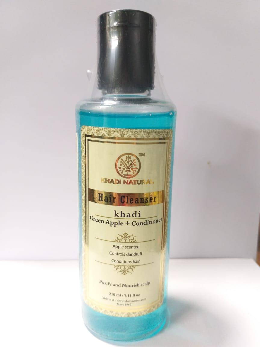 Шампунь-Кондиционер Зеленое Яблоко КХАДИ (Green Apple + Conditioner Shampoo KHADI), 210 мл