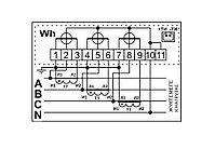 Счетчик электронный  3фаз. однотарифный ДАЛА СА4У-Э720 3x220/380V 5(7,5)A, фото 2