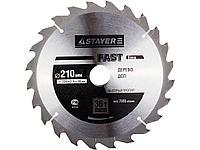 Пильный диск по дереву STAYER 3681-210-30-36, MASTER, OPTI-Line, 210 х 30 мм, 36Т