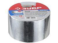Алюминиевая клейкая лента ЗУБР 12262-75-50, ЭКСПЕРТ, 75 мм х 50 м