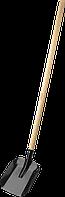 """Лопата """"МАСТЕР"""" совковая, ЛСП, деревянный черенок, ЗУБР, ( 39577 )"""