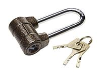 Замок навесной ЗУБР 3720-4-01_z01, МАСТЕР облегченный, дисковый механизм секрета, ключ 7 PIN, удлиненная дужка