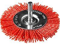 Щетка крацовка дисковая для дрели ЗУБР 35161-075_z02, ПРОФЕССИОНАЛ, нейлоновая проволока с абразивным
