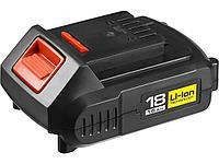 Аккумулятор для шуруповерта ЗУБР АКБ-18-Ли 15М4, МАСТЕР АКБ Li-Ion, тип М4, 1,5 Ач, 18 В