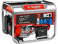 Бензиновый электрогенератор ЗУБР ЗЭСБ-5500-Э, двигатель 4-х тактный, ручной и электрический пуск, 5500/5000Вт,