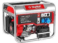 Бензиновый электрогенератор ЗУБР ЗЭСБ-4500-ЭА, двигатель 4-х тактный, ручной и электрический пуск,