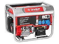 Бензиновый электрогенератор ЗУБР ЗЭСБ-6200-ЭА, двигатель 4-х тактный, ручной и электрический пуск,