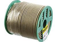 Трос стальной в оплетке ПВХ STAYER 30410-50, MASTER, d=5 мм, L=100 м