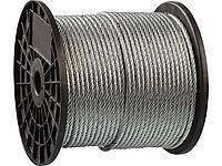 Трос стальной оцинкованный DIN 3055 ЗУБР 4-304110-02, синтетическая сердцевина d=2 мм, L=200 м