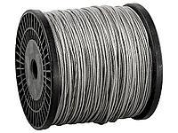 Трос стальной оцинкованный в оплетке ПВХ DIN 3055 ЗУБР 4-304120-01-02, синтетическая сердцевина d=1/2 мм,