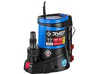 Дренажный насос погружной для чистой воды ЗУБР НПЧ-Т7-250, ПРОФЕССИОНАЛ, Т7 АкваСенсор, 250 Вт, минимальный