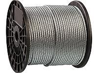 Трос стальной оцинкованный DIN 3055 ЗУБР 4-304110-04, синтетическая сердцевина d=4 мм, L=200 м