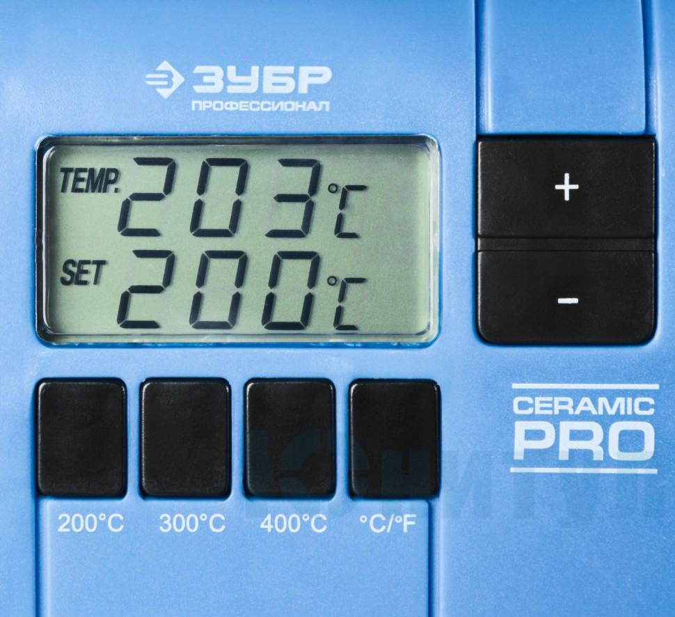 """Паяльная станция ЗУБР """"ПРОФИ"""" цифровая с ЖК дисплеем, керамический нагреватель, диапазон 150-450°C, 48Вт, ( - фото 2"""