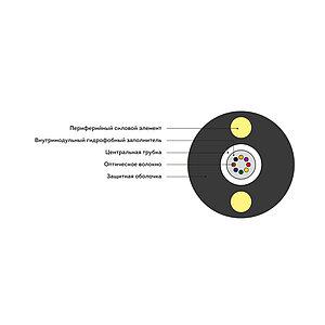 Кабель оптоволоконный ИК-Т-А12-1.0 кН (круглый)
