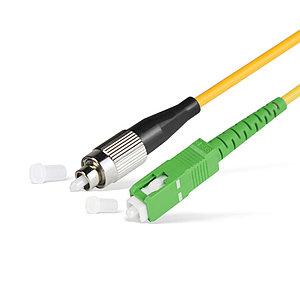 Патч Корд Оптоволоконный SC/APC-FC/UPC SM 9/125 Simplex 3.0мм 1 м