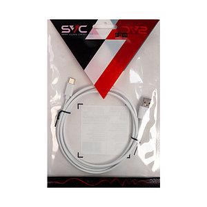 Переходник USB-USB Type C SVC USC-PV0120WH-P, Белый, Пол. пакет, 1.2 м
