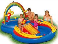 Надувной бассейн Intex игровой центр «Радуга» (57453)