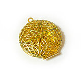 "Кулон-медальон на цепочке ""Медальон для фото"" позолота, фото 7"
