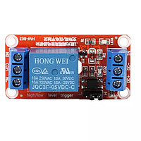 Релейный модуль 5V HW-803A с выбором уровня управляющего напряжения High\Low level trigger
