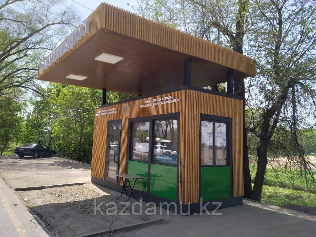 Модульное здание на базе контейнера полицейский пост