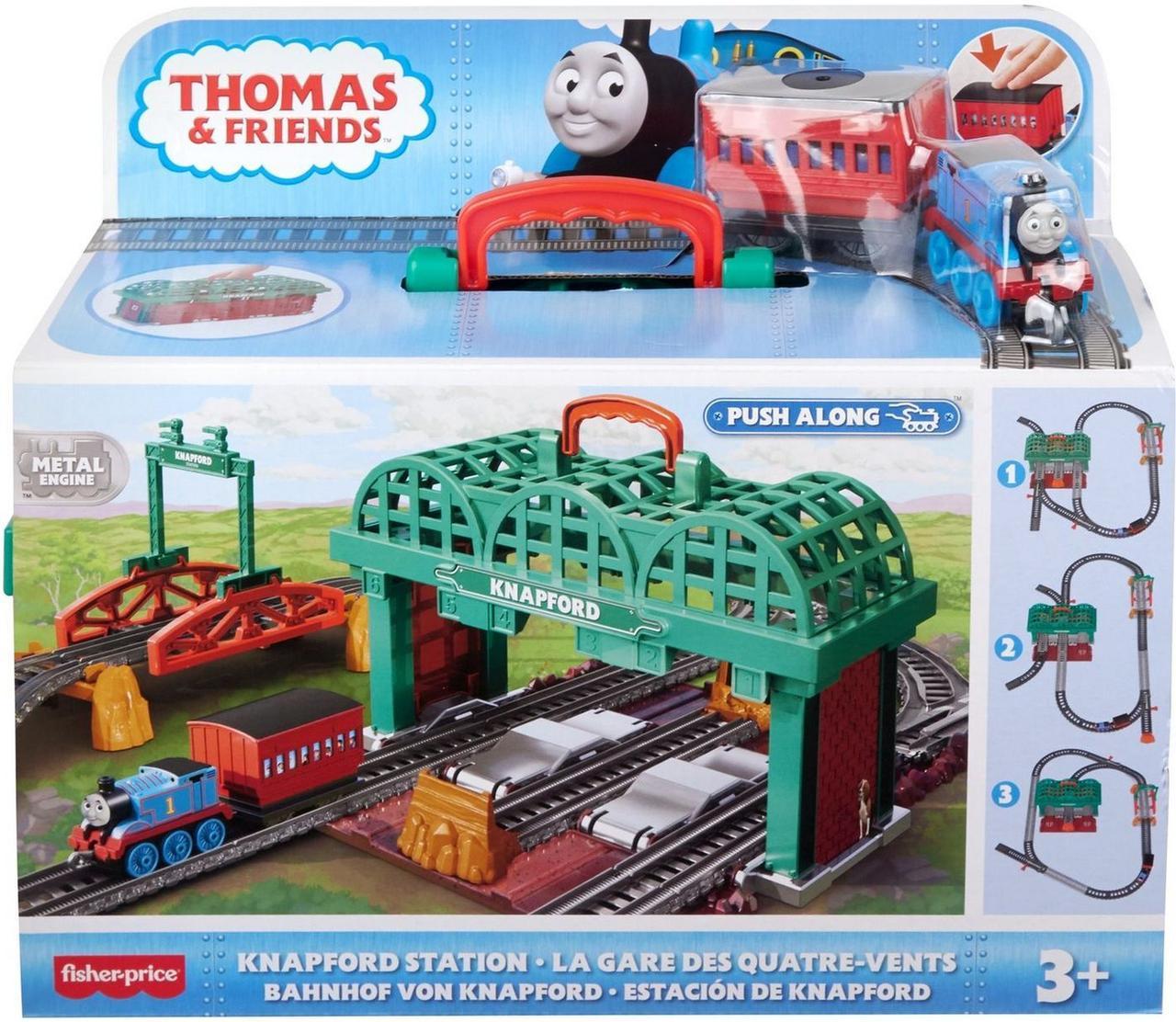 """Томас и друзья. Игровой набор """"Кнэпфордcкая железнодорожная станция"""" с не моторизированным поездом"""