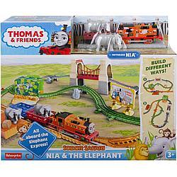 """Томас и друзья. Игровой набор """"Ния и слон"""" с моторизированным поездом"""