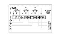 Счетчик электронный 3фаз. однотарифный ДАЛА СА4-Э720 3x220/380V 10(100)A, фото 3